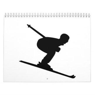 Downhill Skiing Calendar