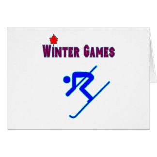 Downhill Skiing Card