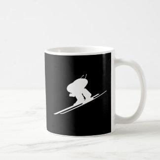 Downhill skiing coffee mug