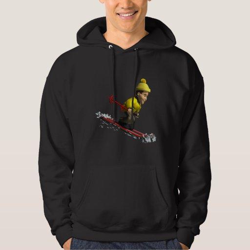 Downhill Skiing Hooded Sweatshirts