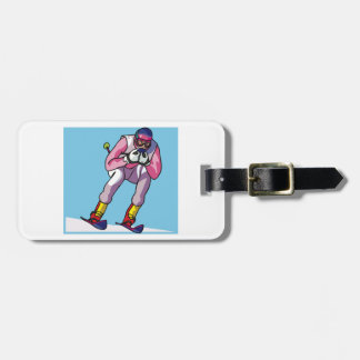 Downhill Skiing Luggage Tags