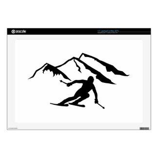 """Downhill skiing mountains 17"""" laptop skin"""