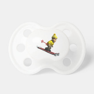 Downhill Skiing Baby Pacifiers