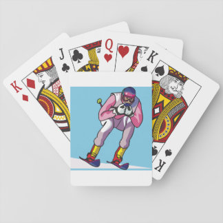 Downhill Skiing Playing Cards