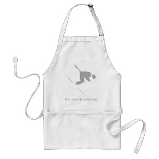 Downhill skiing....the cure to boredom adult apron