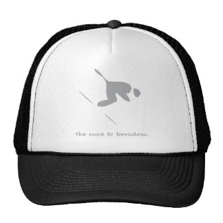 Downhill skiing....the cure to boredom trucker hat
