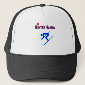 Downhill Skiing Trucker Hat