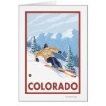 Downhill Snow SkierColorado Greeting Cards