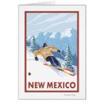 Downhill Snow SkierNew Mexico Greeting Card