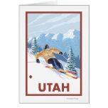 Downhill Snow SkierUtah Greeting Card
