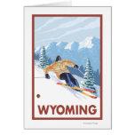 Downhill Snow SkierWyoming Greeting Cards