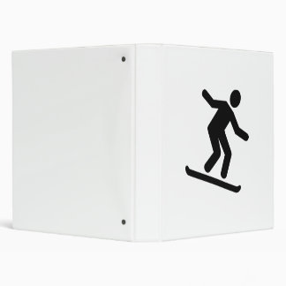 Downhill snowboarding logo 3 ring binders