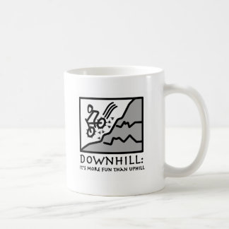 Downhill Thrill Mountain Biking Coffee Mug