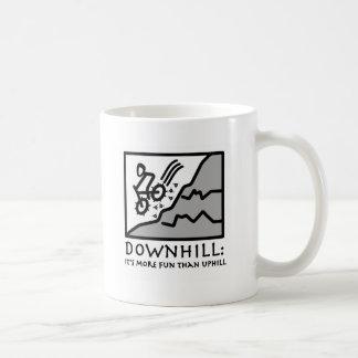 Downhill Thrill Mountain Biking Coffee Mug