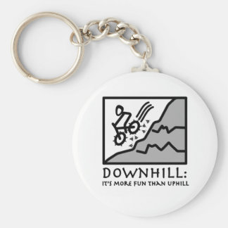 Downhill Thrill Mountain Biking Keychain