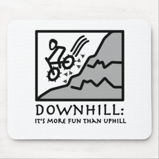 Downhill Thrill Mountain Biking Mouse Pad