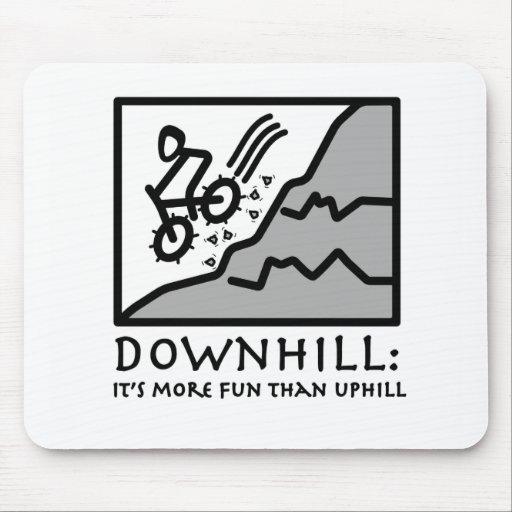 Downhill Thrill Mountain Biking Mousepads