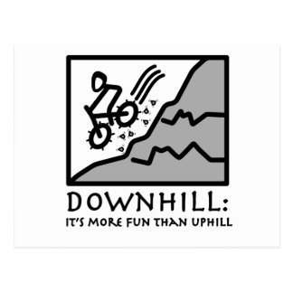 Downhill Thrill Mountain Biking Postcard