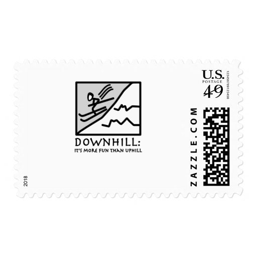 Downhill Thrill Postage Stamps