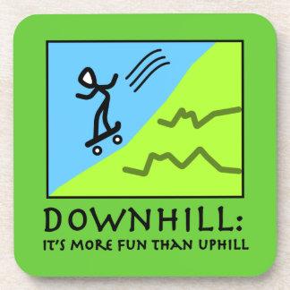 Downhill Thrill - Skateboarding Beverage Coaster