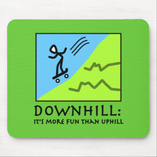 Downhill Thrill - Skateboarding Mouse Pad