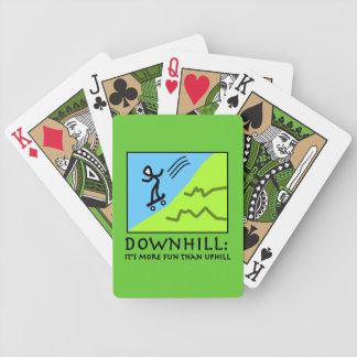Downhill Thrill - Skateboarding Bicycle Poker Cards