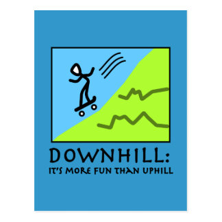 Downhill Thrill - Skateboarding Postcard