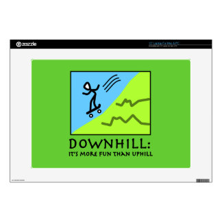 Downhill Thrill - Skateboarding Decals For Laptops
