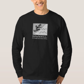 DownHill Thrill - Skiing (Dark) T-Shirt