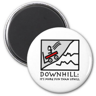 Downhill Thrill Wagon Magnet