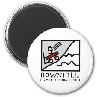 Downhill Thrill Wagon Refrigerator Magnets