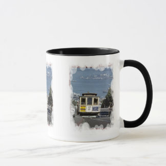 Downhill to the harbour mug