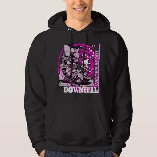 Downhill Winter Sport Ski Boot Sweatshirt Pink
