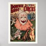 Downie Bros. Circo del vintage Poster