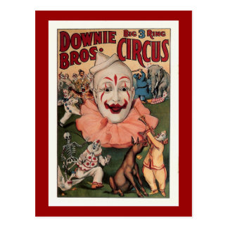 Downie Bros. Vintage Circus Postcard