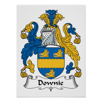 Downie Family Crest Poster