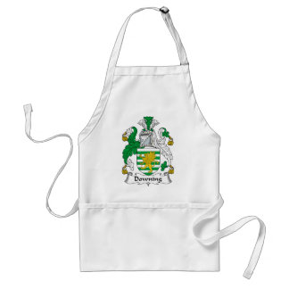 Downing Family Crest Adult Apron