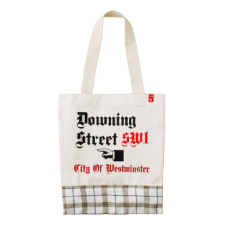 Downing Street, City of Westminster Zazzle HEART Tote Bag