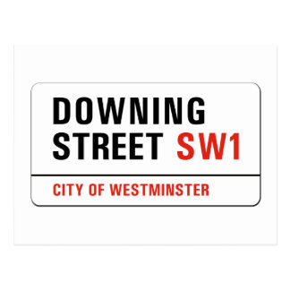 Downing Street, London Street Sign Postcard