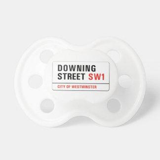 Downing Street, placa de calle de Londres Chupetes Para Bebes