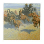 Downing the Nigh Leader, Remington, Vintage Cowboy Ceramic Tiles