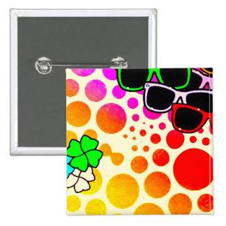 download8 summer polkadots colours sunglasses 2 inch square button