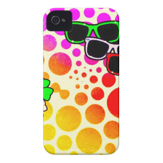 download8 summer polkadots colours sunglasses Case-Mate iPhone 4 case