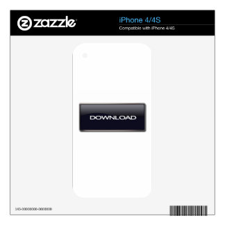 Download Button iPhone 4S Decal