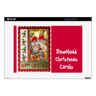 "Download Christmas Carols Decals For 15"" Laptops"