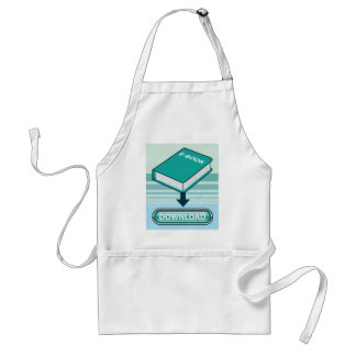 Download Ebook Button with Book Icon Adult Apron