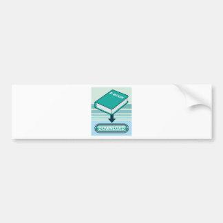 Download Ebook Button with Book Icon Bumper Sticker