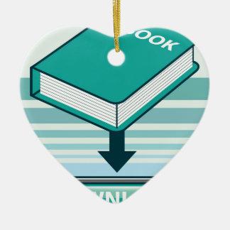 Download Ebook Button with Book Icon Ceramic Ornament