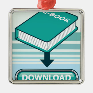 Download Ebook Button with Book Icon Metal Ornament