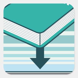 Download Ebook Button with Book Icon Square Sticker